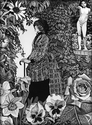 Walk In the Garden Illustration